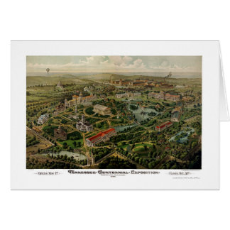 Nashville, TN Panoramic Map - 1897 Card