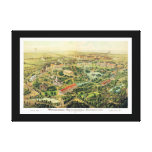 Nashville TN Panoramic Map DIGITALLY REMASTERED Stretched Canvas Prints