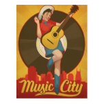 Nashville, TN - Pin encima del chica Postales