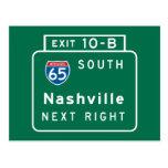 Nashville, TN Road Sign Postcards