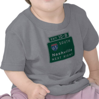 Nashville, TN Road Sign T Shirt