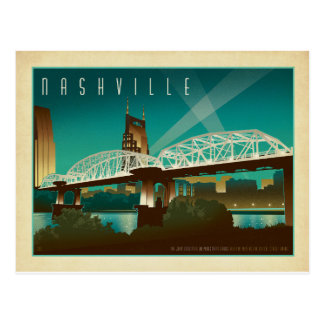 Nashville, TN - Shelby St. Bridge Postcard