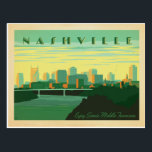 "Nashville, TN - Skyline Postcard<br><div class=""desc"">Anderson Design Group is an award-winning illustration and design firm in Nashville,  Tennessee. Founder Joel Anderson directs a team of talented artists to create original poster art that looks like classic vintage advertising prints from the 1920s to the 1960s.</div>"