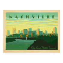 Nashville, TN - Skyline Postcard