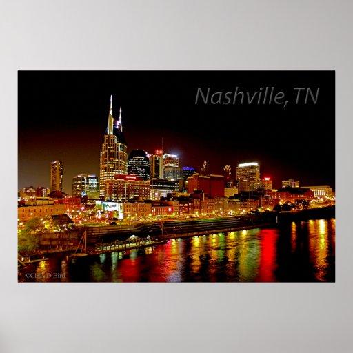 Nashville, TN Skyline Poster