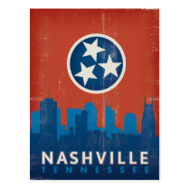 Nashville, TN - State Flag Postcard