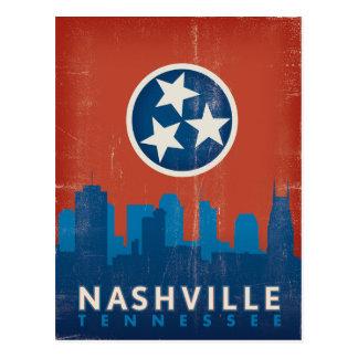 Nashville, TN - State Flag Postcard