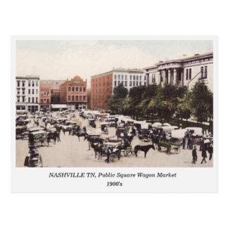 Nashville TN, Wagon Market 1900s postcard