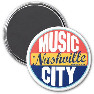 Nashville Vintage Label 3 Inch Round Magnet