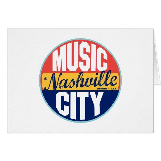Nashville Vintage Label Card