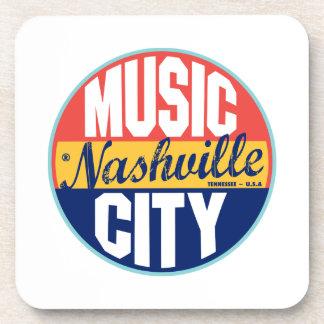 Nashville Vintage Label Beverage Coasters
