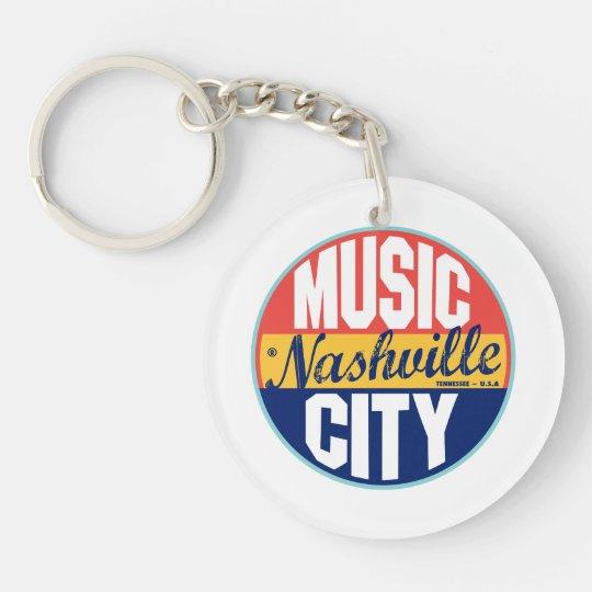 Nashville Vintage Label Keychain