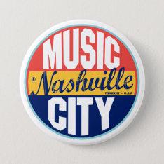 Nashville Vintage Label Pinback Button at Zazzle