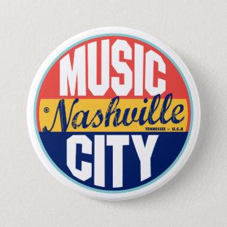 Nashville Vintage Label Pinback Button
