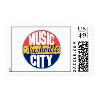 Nashville Vintage Label Postage