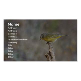 Nashville warbler business card template