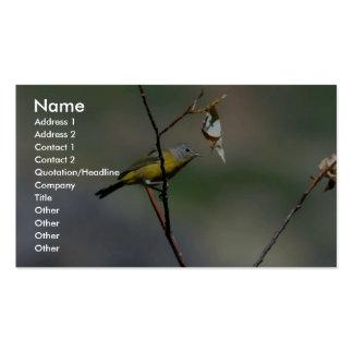 Nashville Warbler (male) Business Card Templates