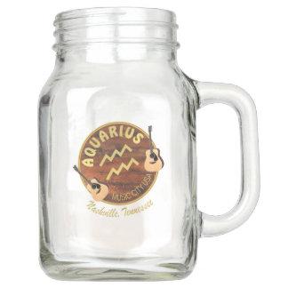 Nashville Zodiac Aquarius Mason Jar (20 oz)
