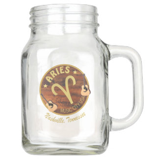 Nashville Zodiac Aries Mason Jar (20 oz)