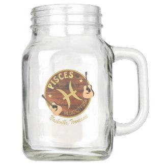 Nashville Zodiac Pisces Mason Jar (20 oz)