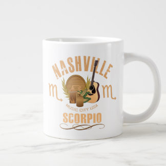 Nashville Zodiac Scorpio Giant Coffee Mug