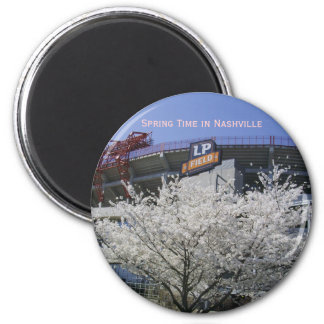 NashvilleFanFare 001, tiempo de primavera en Nashv Imán Redondo 5 Cm
