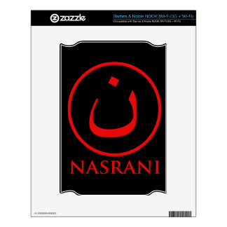Nasrani  Christian Symbol Decal For The NOOK