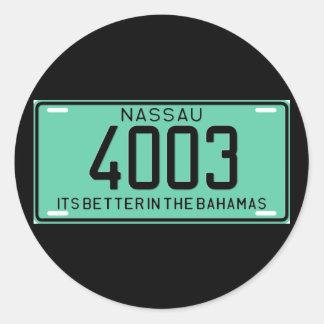 Nassau77 Classic Round Sticker