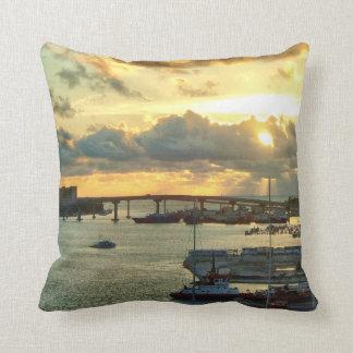 Nassau at Sunrise Throw Pillow
