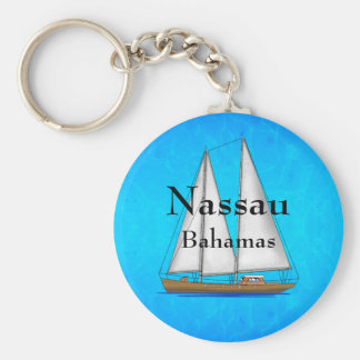 Nassau Bahamas Basic Round Button Keychain