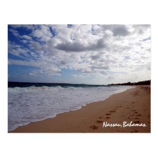 Nassau,Bahamas Beach Postcard