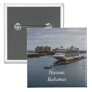 Nassau, Bahamas 2 Inch Square Button