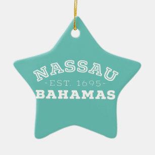 Nassau Bahamas Ceramic Ornament