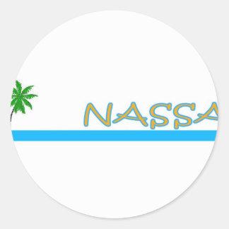 Nassau, Bahamas Classic Round Sticker