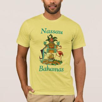 Nassau, Bahamas con el escudo de armas Playera