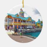 Nassau Bahamas Double-Sided Ceramic Round Christmas Ornament