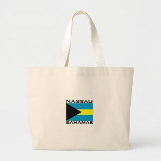 Nassau, Bahamas Large Tote Bag