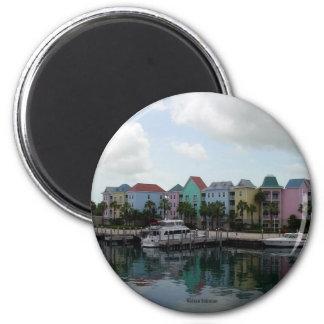 Nassau Bahamas marina Refrigerator Magnet