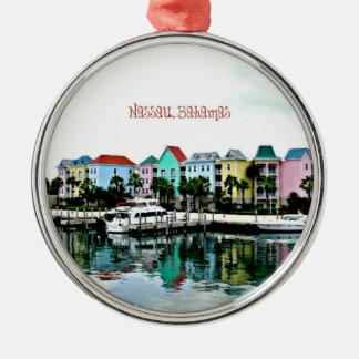 Nassau Bahamas Marina Metal Ornament