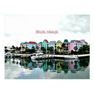 Nassau Bahamas marina postcard
