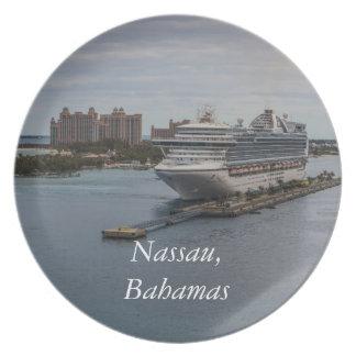 Nassau, Bahamas Melamine Plate