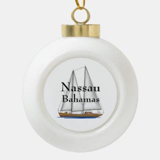 Nassau Bahamas Ceramic Ball Christmas Ornament