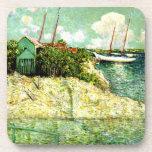 Nassau, Bahamas, painting by J. Alden Weir Beverage Coasters