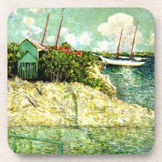 Nassau, Bahamas, painting by J. Alden Weir Drink Coaster