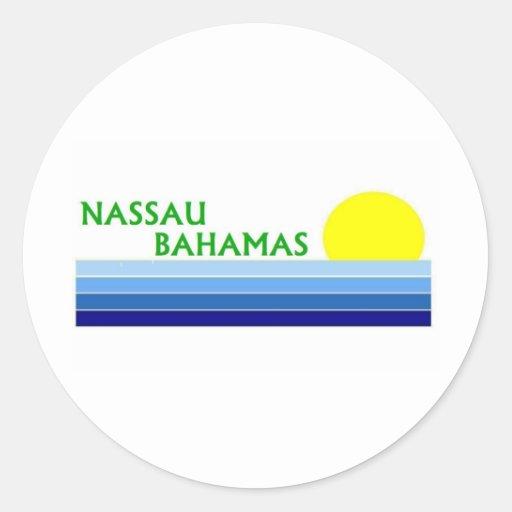 Nassau, Bahamas Pegatina Redonda