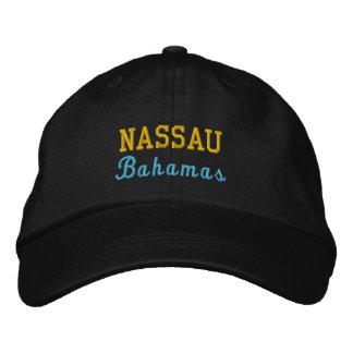 Nassau, Bahamas personalizó el gorra ajustable Gorra Bordada