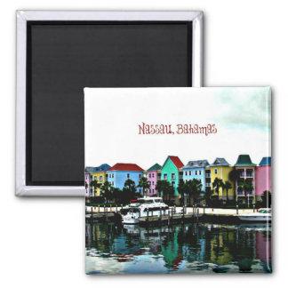 Nassau, Bahamas photograph 2 Inch Square Magnet