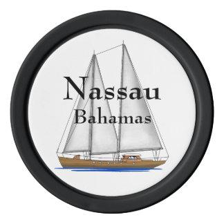 Nassau Bahamas Poker Chips Set