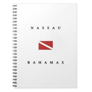 Nassau Bahamas Scuba Dive Flag Notebook