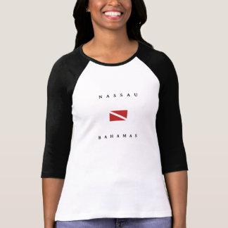 Nassau Bahamas Scuba Dive Flag T-shirts